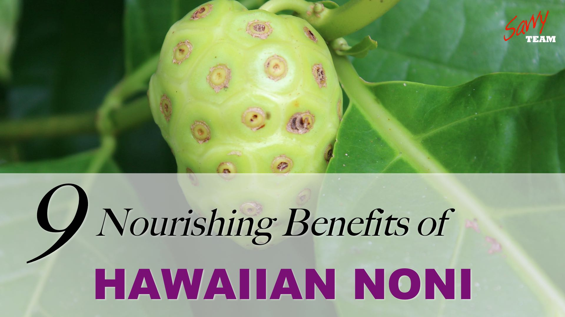 9 Nourishing Benefits of Hawaiian Noni